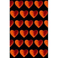Heart Pattern Orange 5.5  x 8.5  Notebooks