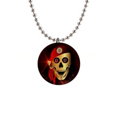 Funny, happy skull Button Necklaces