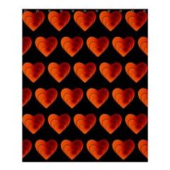 Heart Pattern Orange Shower Curtain 60  x 72  (Medium)