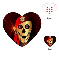 Funny, happy skull Playing Cards (Heart)