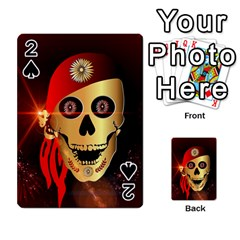 Funny, happy skull Playing Cards 54 Designs