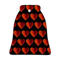 Heart Pattern Orange Ornament (Bell)