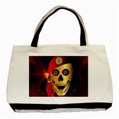 Funny, happy skull Basic Tote Bag