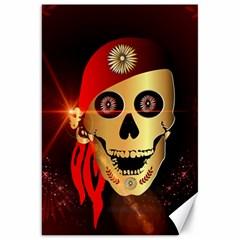 Funny, happy skull Canvas 20  x 30