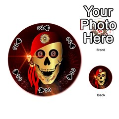 Funny, happy skull Playing Cards 54 (Round)