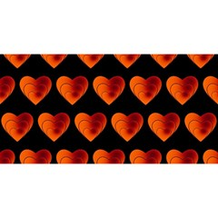 Heart Pattern Orange YOU ARE INVITED 3D Greeting Card (8x4)