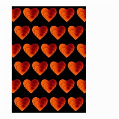 Heart Pattern Orange Small Garden Flag (Two Sides)