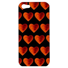 Heart Pattern Orange Apple iPhone 5 Hardshell Case