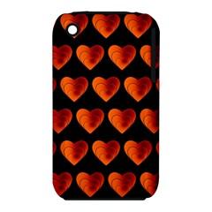 Heart Pattern Orange Apple iPhone 3G/3GS Hardshell Case (PC+Silicone)