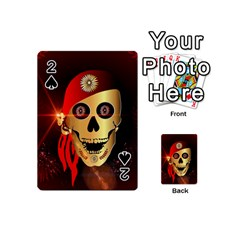 Funny, happy skull Playing Cards 54 (Mini)