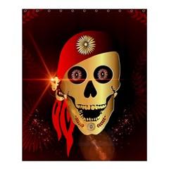Funny, happy skull Shower Curtain 60  x 72  (Medium)