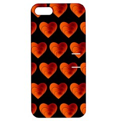 Heart Pattern Orange Apple iPhone 5 Hardshell Case with Stand