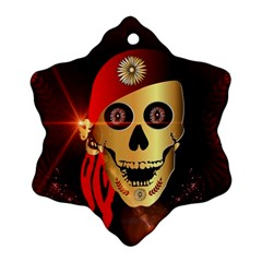 Funny, happy skull Ornament (Snowflake)