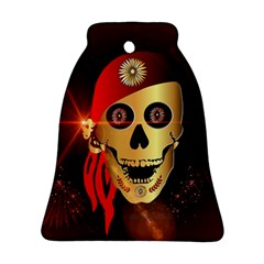 Funny, happy skull Ornament (Bell)