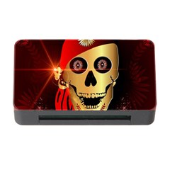 Funny, happy skull Memory Card Reader with CF