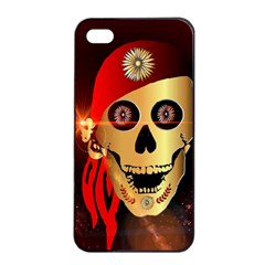 Funny, happy skull Apple iPhone 4/4s Seamless Case (Black)