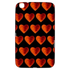 Heart Pattern Orange Samsung Galaxy Tab 3 (8 ) T3100 Hardshell Case