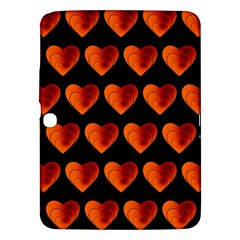 Heart Pattern Orange Samsung Galaxy Tab 3 (10.1 ) P5200 Hardshell Case