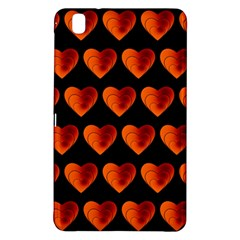Heart Pattern Orange Samsung Galaxy Tab Pro 8.4 Hardshell Case
