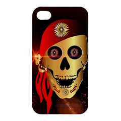 Funny, happy skull Apple iPhone 4/4S Hardshell Case