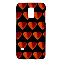 Heart Pattern Orange Galaxy S5 Mini