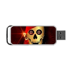Funny, happy skull Portable USB Flash (One Side)