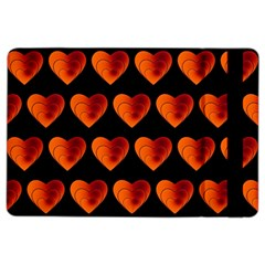Heart Pattern Orange iPad Air 2 Flip