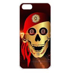 Funny, happy skull Apple iPhone 5 Seamless Case (White)