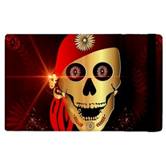 Funny, happy skull Apple iPad 2 Flip Case