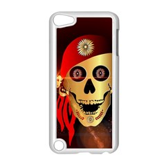 Funny, happy skull Apple iPod Touch 5 Case (White)