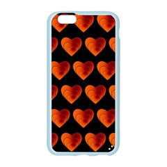 Heart Pattern Orange Apple Seamless iPhone 6 Case (Color)
