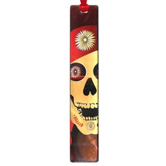 Funny, happy skull Large Book Marks