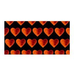 Heart Pattern Orange Satin Wrap