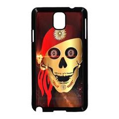 Funny, happy skull Samsung Galaxy Note 3 Neo Hardshell Case (Black)
