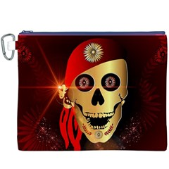 Funny, happy skull Canvas Cosmetic Bag (XXXL)