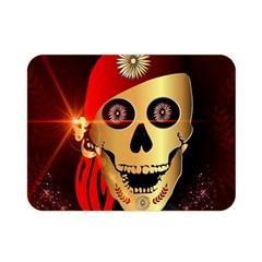 Funny, Happy Skull Double Sided Flano Blanket (mini)