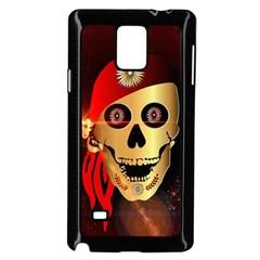 Funny, Happy Skull Samsung Galaxy Note 4 Case (black)