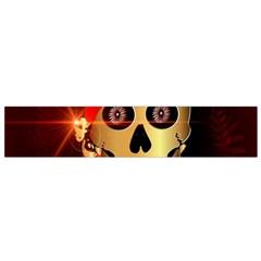 Funny, happy skull Flano Scarf (Small)
