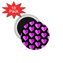 Heart Pattern Pink 1.75  Magnets (10 pack)