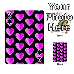 Heart Pattern Pink Playing Cards 54 Designs