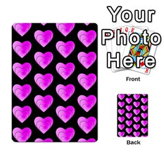 Heart Pattern Pink Multi-purpose Cards (Rectangle)