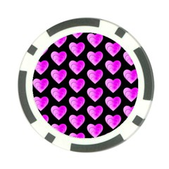 Heart Pattern Pink Poker Chip Card Guards (10 pack)
