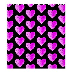 Heart Pattern Pink Shower Curtain 66  x 72  (Large)