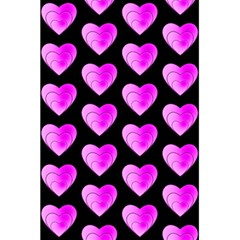 Heart Pattern Pink 5 5  X 8 5  Notebooks