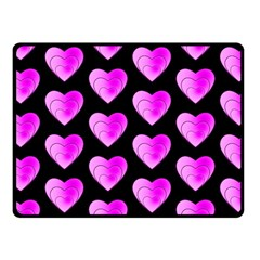 Heart Pattern Pink Fleece Blanket (Small)