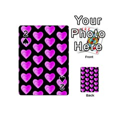 Heart Pattern Pink Playing Cards 54 (Mini)