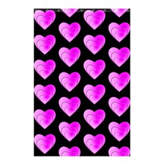 Heart Pattern Pink Shower Curtain 48  x 72  (Small)