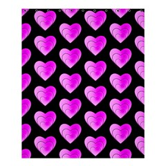 Heart Pattern Pink Shower Curtain 60  X 72  (medium)