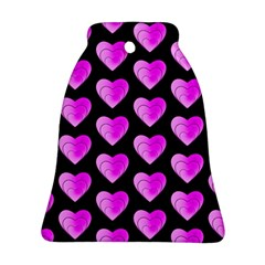 Heart Pattern Pink Bell Ornament (2 Sides)