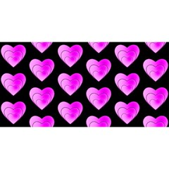 Heart Pattern Pink YOU ARE INVITED 3D Greeting Card (8x4)